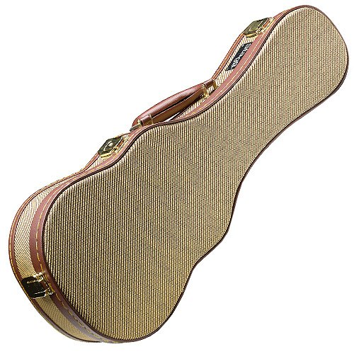 "Stagg 25015293 GCX-UKS GD - Maleta para ukelele soprano (Tweed, 53,34 cm / 21""), color dorado"