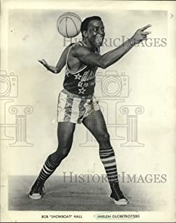 Historic Images - 1967 Press Photo Harlem Globetrotters Basketball Player Bob Showboat Hall