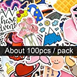 MENGYUE 100 Uds Pegatinas de Vinilo para niños Suministros de Diario de Bala Pegatinas de Anime Pegatinas de álbum de Recortes para Diario portátil
