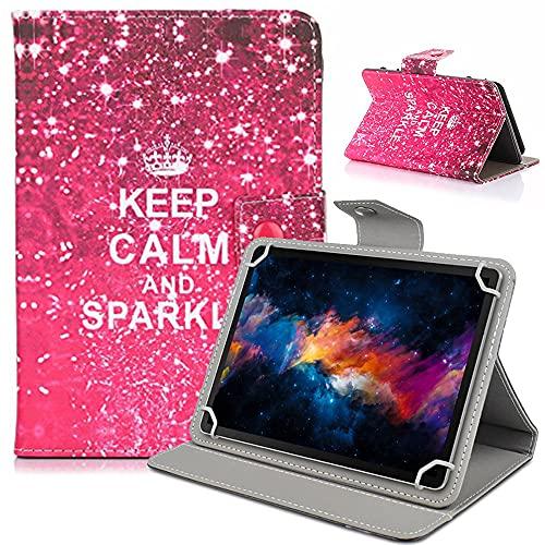 Funda Tablet 10'' pulgadas ,Ultra Thin Piel con Folio Flip Smart Case Cover para Samsung galaxy Tab A 10.1 T580/Huawei MediaPad M2 10 tablet de Pulgadas/Lenovo YOGA tab3 pro 10.1/BQ Aquaris M10 Tablet de 10.1 pulgadas/eXpro X1s 10.1''Puldagas Tablet/Sony Xperia Z2 Tablet 10.1' Pulgadas/Dragon Touch X10 Tablets/YuntabTablet PC 10.1 pulgadas Tablet Funda Carcasa de Cuero de Piel on Stand Función