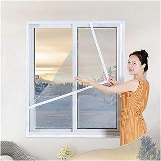 YLJYJ Lona, Aislante de película retráctil autoadhesiva Reutilizable para Ventanas Película de Aislamiento térmico Transparente PEVA frío y Resistente al Viento, 13 tamaños (Color: Transparente, Si