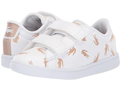 Lacoste Kids Carnaby Evo 419 1 (Toddler) (White/Gold) Kid