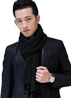 "SIGGI Mens Thick Knitted Plaid/Striped 77"" Long Winter Scarf Shawl 3 Patterns"