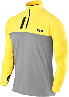 TCA Men's Fusion Pro Quickdry Long Sleeve Half-Zip Running Shirt