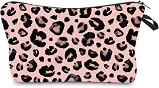 OKA Makeup Pouch Cosmetic Bag and Toiletry Bag For Accessories Light and Portable Leopard Travel Bag
