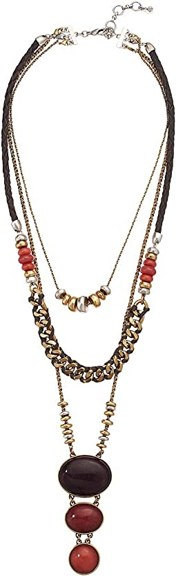 Berry Stone Statement Necklace