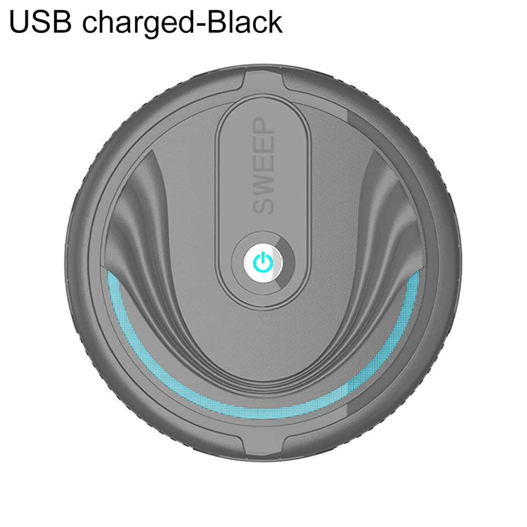 fanmaosdf Robot Vacuum Cleaner, Ultra-Thin Automatic Smart Cleaning Robot Vacuum Cleaner Dust Suction SweeperAutomatically Sweeping Floor, High Suction for Hard Floor, Thin Carpets qxz5409078