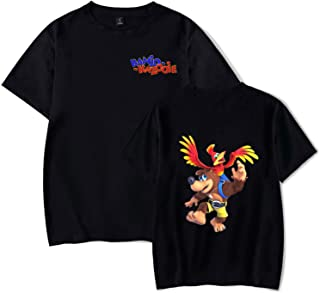 CONNOR WALTERS Banjo-Kazooie Mens Sport T-Shirt Women Loose Short-Sleeved T-Shirt Black