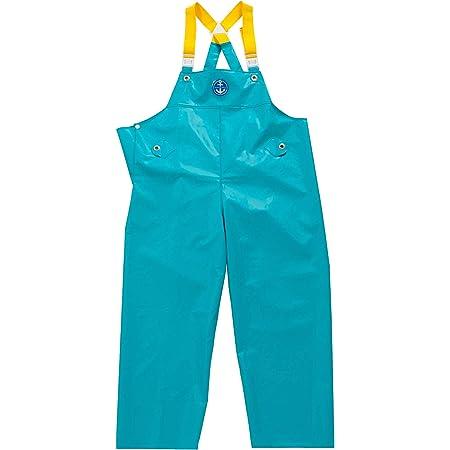 水産マリンレリー 胸付ズボン Lサイズ ターコイズ 漁師のための専用合羽