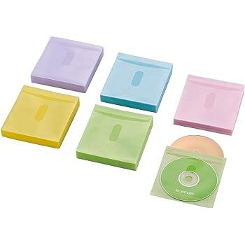 エレコム DVD BD CDケース 不織布 両面収納 120枚入 240枚収納可 5色アソート CCD-NIWB240ASO