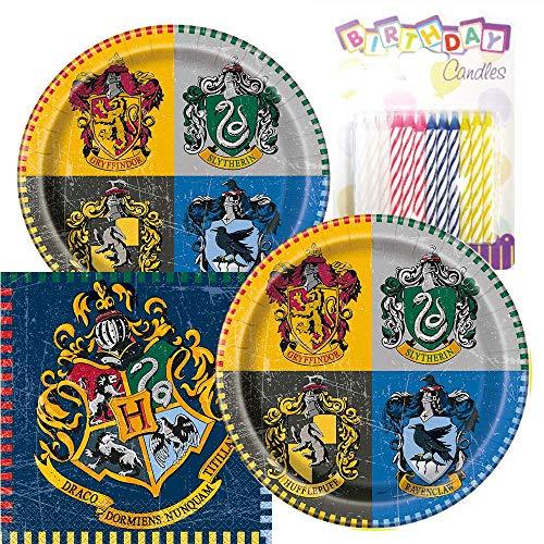 Harry Potter Party Plates Napkins Cups Serves 16 (Plates Napkins)