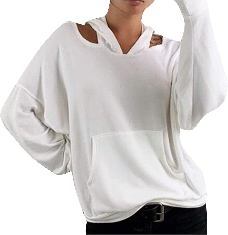 Women's Under blast sales Hoodies Sweatshirt Solid Cold Super beauty product restock quality top! Shoulder Pullover Shirt Ca
