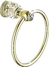 AUSWIND goud gepolijste handdoek ringen, antieke messing muur gemonteerd met vals kristal decoreren