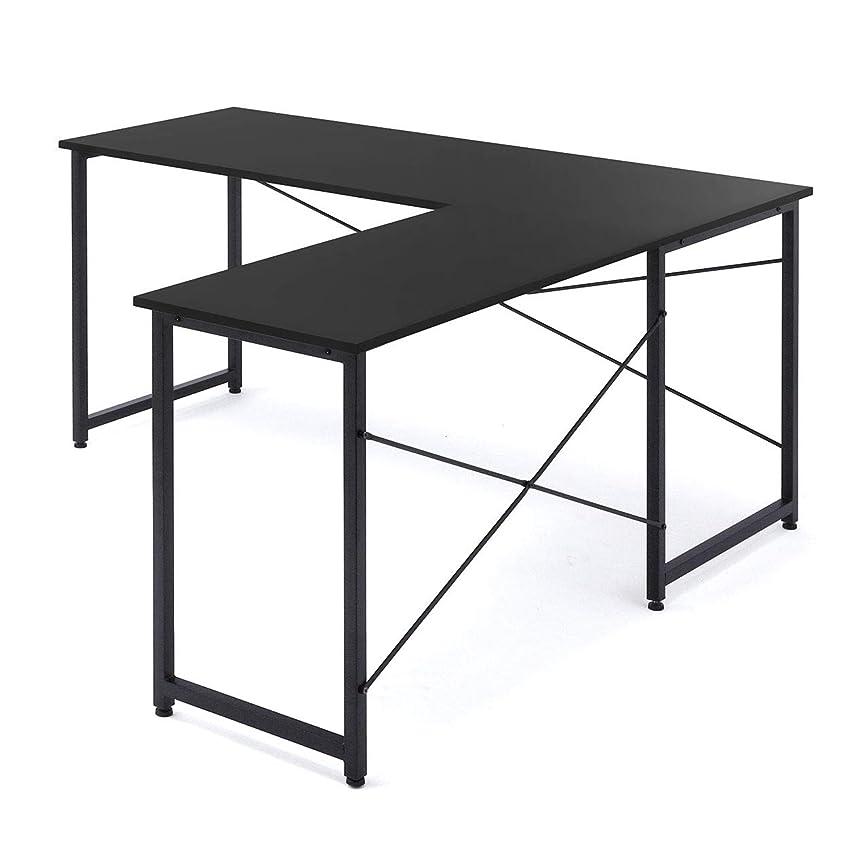 必需品正確なセレナイーサプライ L字型 パソコンデスク コーナーデスク 木製 幅150cm+90cm 左右対応 ブラック EZ1-DESKH011BK