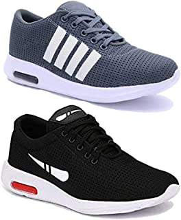 Shoefly Men Multicolour Latest Collection Sports Running Shoes - Pack of 2 (Combo-(2)-9064-1200)