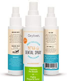 Oxyfresh Advanced Unflavored Pet Dental Spray - Stops The Toughest Dog, Cat, Pet Bad Breath: Best Way to Fight Plaque, Control Tartar and Keep Gums Healthy. No Brushing Pet Dental Solution. 3oz.