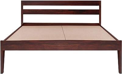 Springtek Dreamer Pure Sheesham (King Size) Solid Wooden Platform Bed, Mahogany Color - 78x72 Inches