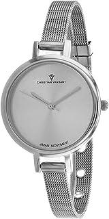 Christian Van Sant Women's Grace Quartz Stainless Steel Strap, Silver, 8 Casual Watch (Model: CV0280)
