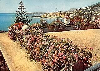 La Cote d'Azur Menton France Postcard