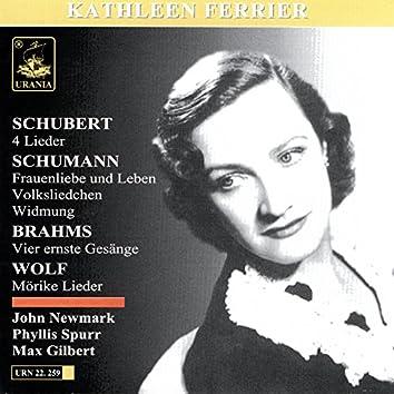 Schubert: 4 Lieder - Schumann: Fraunliebe und Leben, Volksliedchen, Widmung - Brahms: Vier Ernste Gesänge - Wolf: Mörike Lieder