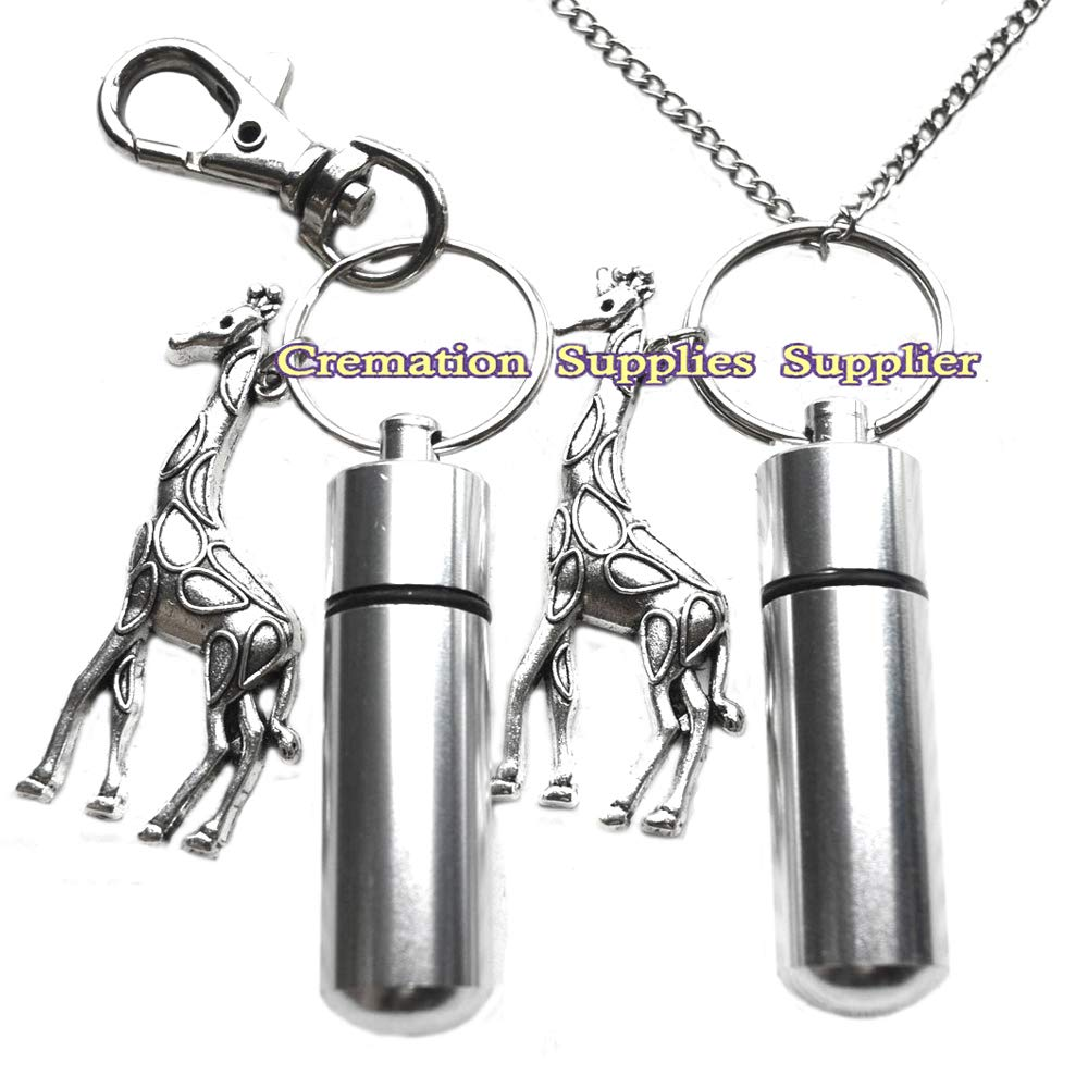 Jirafa urna collar y llavero – medio cilindro urna – jirafa cremación collar joyas – cenizas collar joyas – joyas llavero: Amazon.es: Hogar