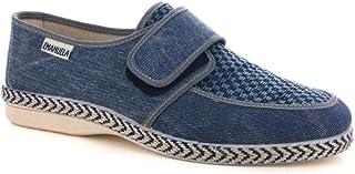 EMANUELA 5225 Scarpa Uomo in Tela Velcro Jeans