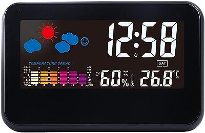 Reloj de Radio Digital de Pared con Indicador de Temperatura Reloj Despertador Temporizador de Cuenta Atrás