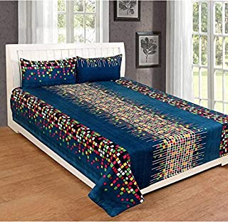 HIYANSHI HOME FURNISHING Microfiber 180 TC Bedsheet (Full_Multicolour)
