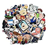 Family Guy Stickers for Water Bottles 67Pcs Cute,Waterproof,Aesthetic,Trendy Stickers for Teens,Girls Perfect for Waterbottle,Laptop,Phone,Travel Extra Durable Vinyl