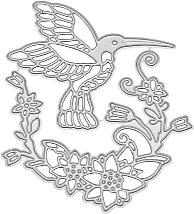 Hummingbird Flower Metal Cutting Dies Stencil DIY Scrapbooking Album Stamp Embossing Craft Decor