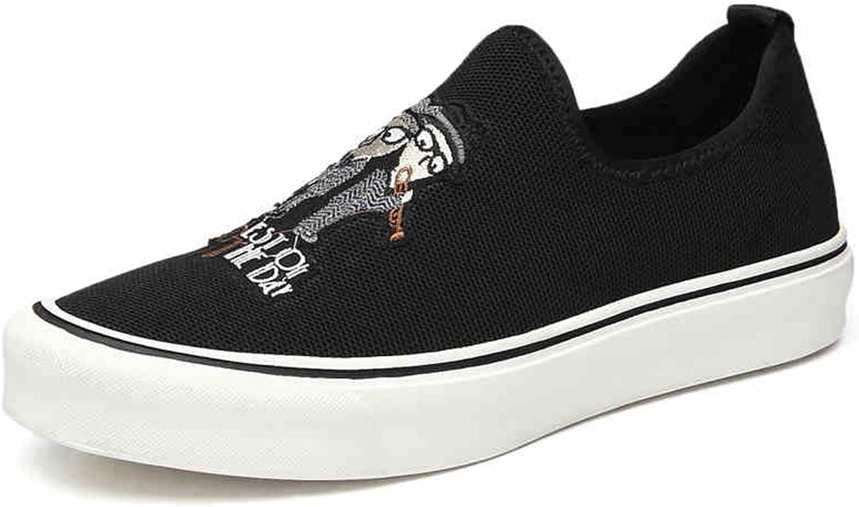 QIDI Canvas shoes Male Outdoor Movement Fashion Breathable Black Casual shoes (Size   EU42 UK8.5)