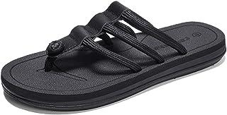 WHPSTZ Andals and Slippers Summer Non-Slip Men's Bathroom Slippers Outdoor Casual Student Beach Sandals 37-44EU Flip Flops (Color : Black, Size : 39EU)