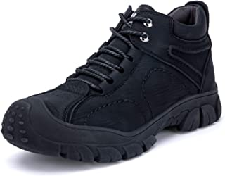 ORISTACO Steel Toe Work Shoes, Comfortable Casual Lightweight Slip on Slip Resistant Industrial Construction Sneakers