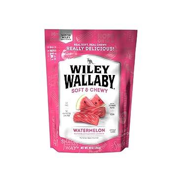 Wiley Wallaby Australian Style Regaliz, sandía, bolsa de 10 onzas