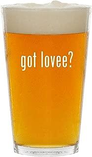 got lovee? - Glass 16oz Beer Pint