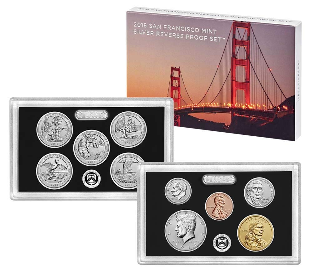 2018 S 10-Coin Silver Reverse Proof Dime Max 47% OFF Quantity limited Penny with Nickel Set