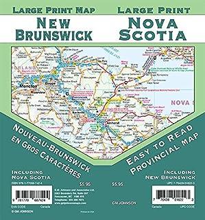 New Brunswick / Nova Scotia Large Print Province Map