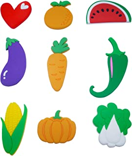 Fridge Magnets Vegetables Magnets Cartoon Cars Refrigerator Magnets Kids Magnetic Toy Funky Magnets Vegetable for Kids