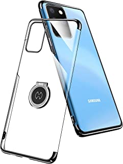 AICase Funda para Samsung Galaxy S20 Ultra,Carcasa de Cristal con Soporte magnético de 360 Grados,Soporte para Coche con imán para Samsung Galaxy S20 Ultra (Negro)