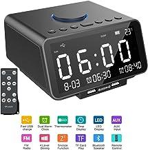 Hetyre - Reloj Despertador Digital con Radio de 5,5 Pulgadas