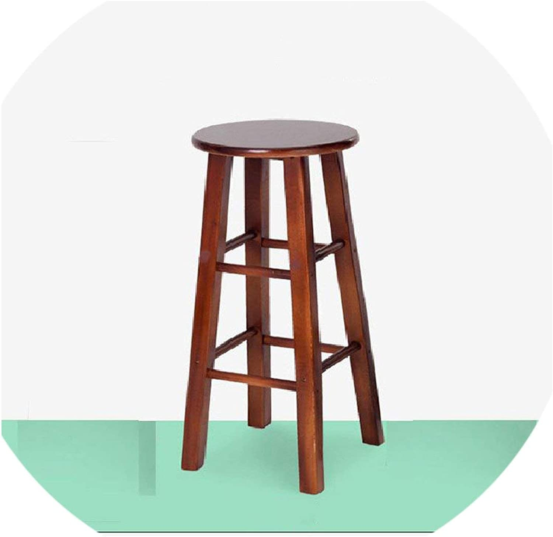 Tthappy76 Nordic Bar Stool Modern Minimalist Bar Chair Solid Wood Home Bar Stool Creative Fashion High Stool,45Cm High1