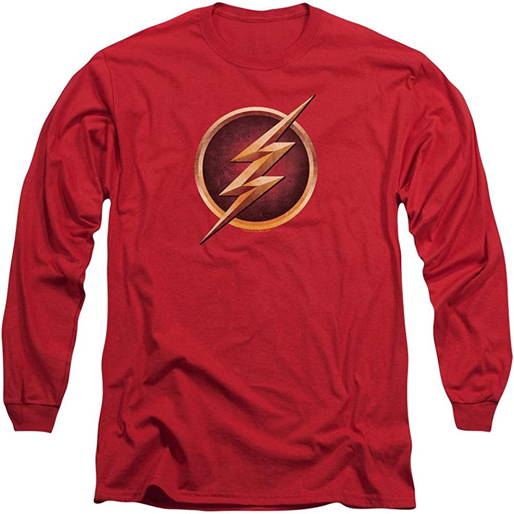 Sons of Max Free shipping on posting reviews 67% OFF Gotham The Flash Chest Men's Re T-Shirt Long Logo Sleeve