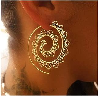 Women Gold Plated Dangle Drop Earrings