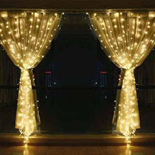String lights for Window Curtain, 3M 304 LED Fairy Twinkle Starry Decorative Light for Indoor Outdoor Wedding Christmas Ho...