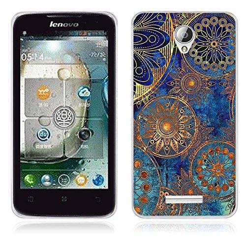 FUBAODA für Lenovo A5000 Hülle, [Clans] Künstlerische Malerei-Reihe TPU Case Schutzhülle Silikon Case für Lenovo A5000