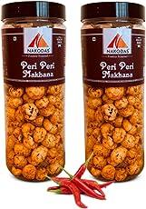 Nakodas Roasted Makhana Peri Peri Fox Nuts (2 Jars, 70gm Each) - Light Healthy Snacks/ Munchies
