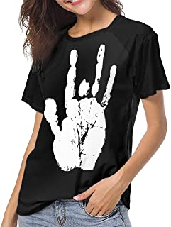 Womans Grateful Dead Jerry Hand Funny T Shirts L
