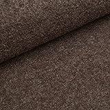 Fabian - tessuto loden follato di 100% lana vergine - stoffa morbido al tatto (al metro, taupe)