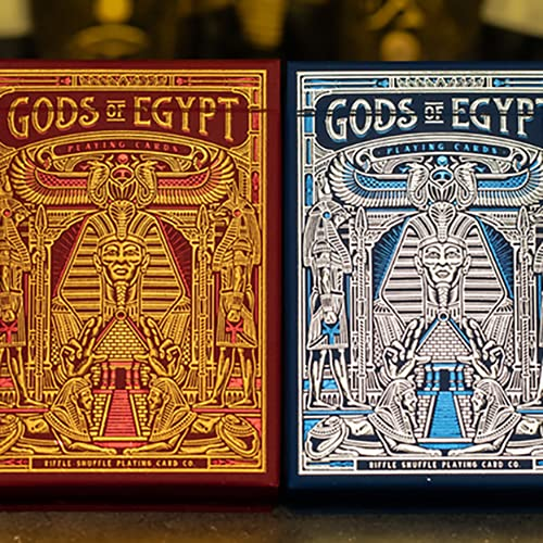 SOLOMAGIA Gods of Egypt (Red) Playing Cards by Divine Playing Cards