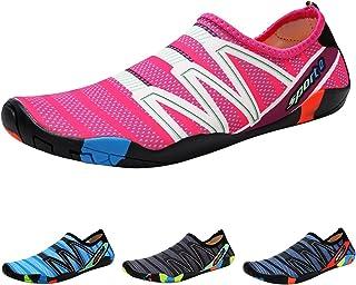 QIMAOO Barefoot Skin Water Shoes Socks, Men Women Quick Dry Water Sport Shoes, Unisex Aqua Shoes for Swim Surf Yoga Beach ...